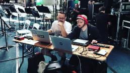 Max Wheeler & Jack Kingslake hard at work #Ableton